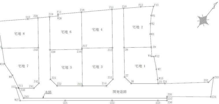 山口市矢原分譲地(全8区画)