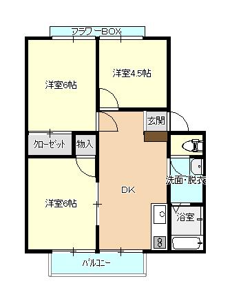 ラフォーレ小郡102号室(案)