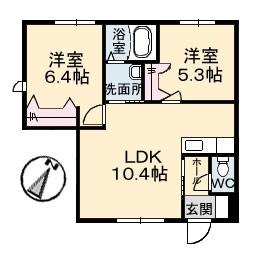 B棟1階2LDK