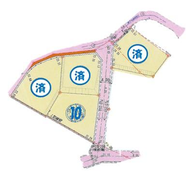 荻町売土地5'(10号地)区画参考図